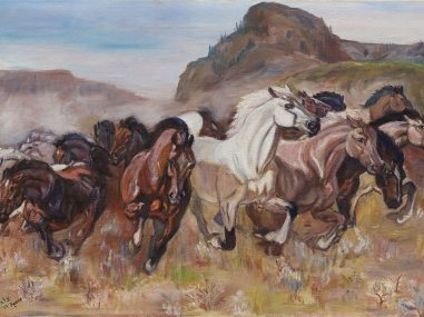 The Stampede Fine Art Reproduction Example