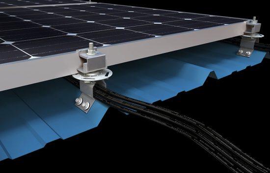 CGI product rendering solar panel fixture