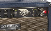 Product photography Mesa guitar amplifier closeup